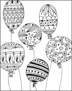 Coloring page: Balloons are a way to welcome people!