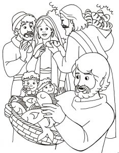 Coloring page: Feeding the 5000