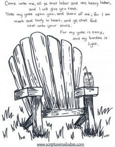 Coloring page: Find rest