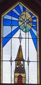 Detail from Dale M. Farris stained glass window