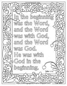 Coloring Page: John 1