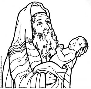 Coloring page: Presentation of Jesus in the temple