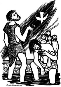 Coloring Page: Baptism of Jesus