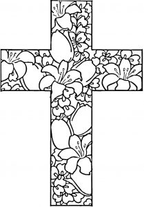 Coloring Page: Easter Cross